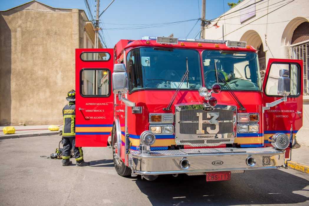 Firefighters using IoT sensors