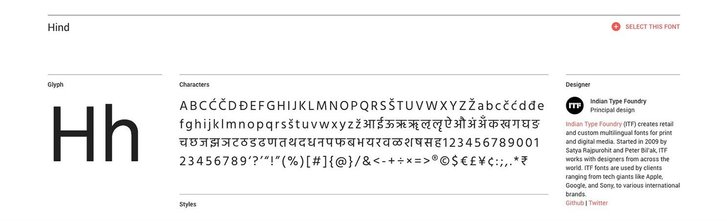 Hind Typeface