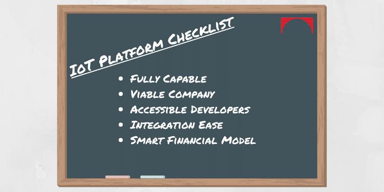 iot platform checklist