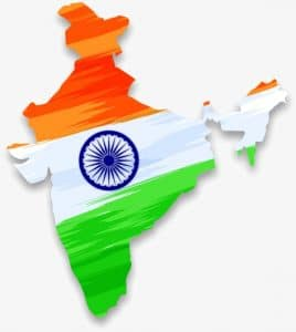 india country map flag outsourcing