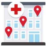 hospital gps icon iot