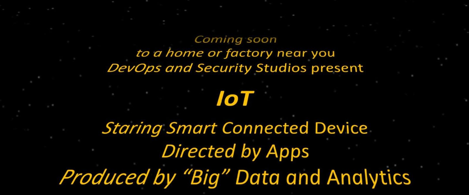 Behind the Scene with the Internet of Things