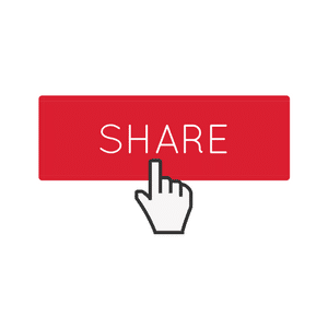 red share button with cursor