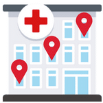 hospital gps icon iot