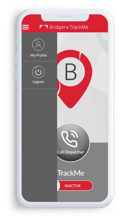 Bridgera TrackMe - Real Time Driver Tracking App Screen