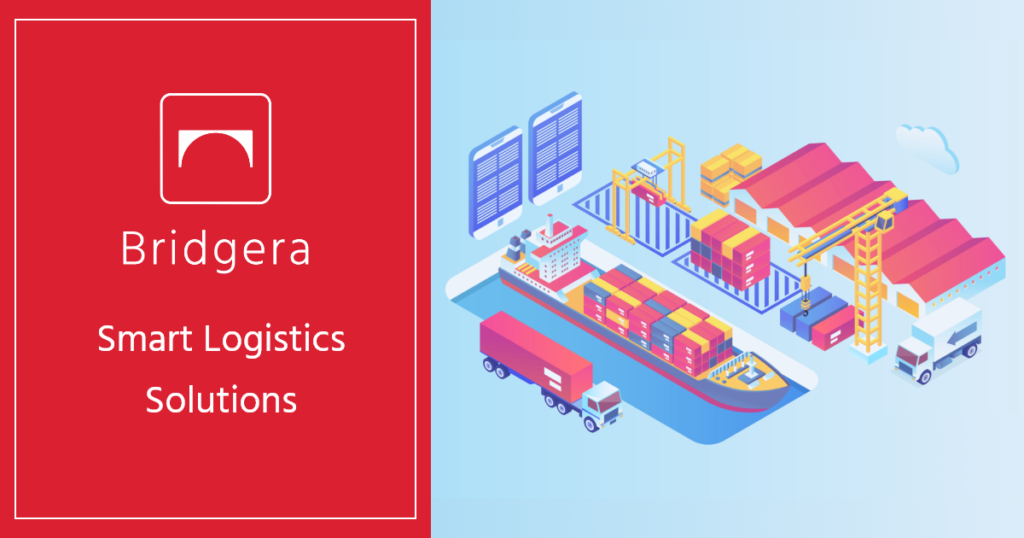 Shipping containers can use smart logistics sensors can to track them from dock to ship to truck